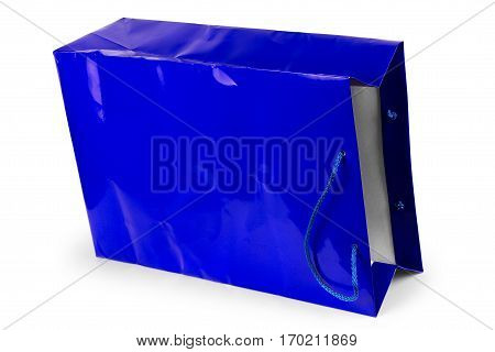 Paper shopping bag isolated on white  Purchase, E-commerce, Commerce, Trade, Mall