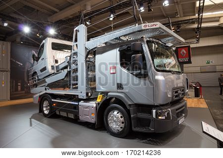 HANNOVER GERMANY - SEP 21 2016: Renault D 18 WIDE presented at the International Motor Show for Commercial Vehicles.