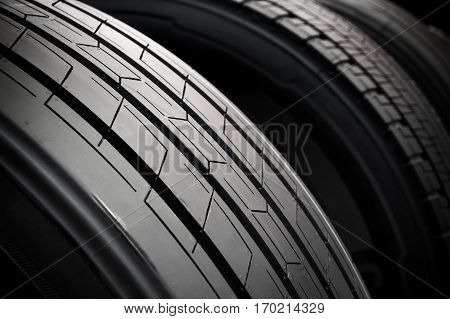 Abstract view of a car tire profile