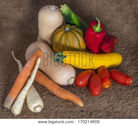 Autumn harvest. The farmers bring to the markets grown on farms fruit and vegetables