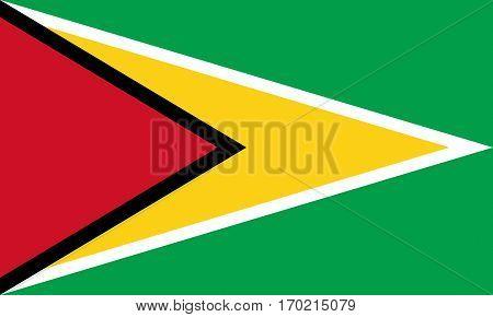 Illustration of the national flag of Guyana