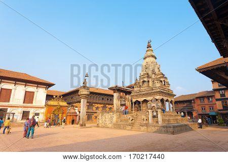 Bhaktapur Durbar Square Temple Palace Tourists