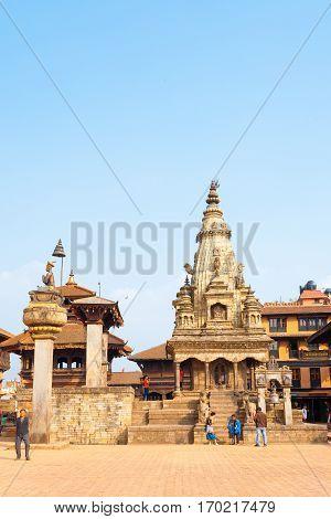 Bhaktapur Durbar Square Undamaged Vatsala Durga V