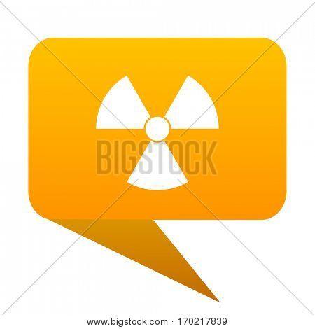 radiation orange bulb web icon isolated.