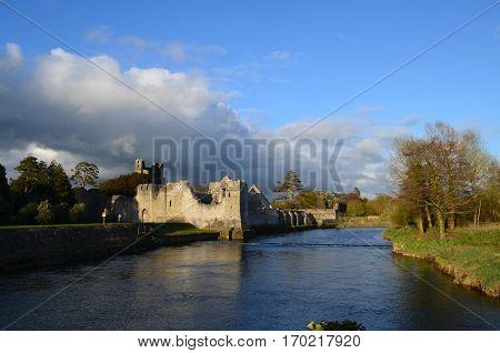 Desmond castle ruins in county Limerick Ireland.