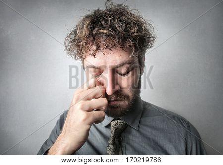 Man feeling sad