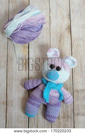 Amigurumi Toy. Teddybear