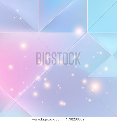 Lilac mosaic background with light effects. Neutral vector background.