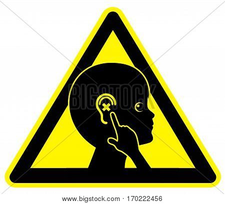 Hearing Impaired Child. Kid with hearing problems needs aural examination from audiologist