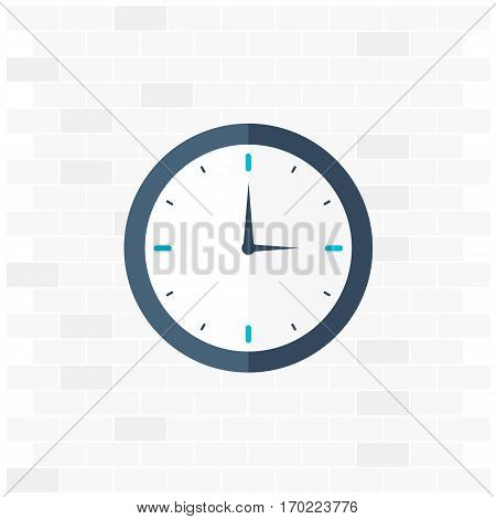 Time Logo. Watch Icon. Vector Flat Illustraion.