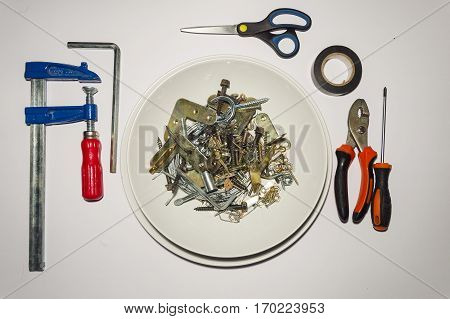 A Do It Yourself food set plate