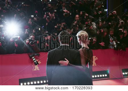 Josh Brolin and Kathryn Boyd attend the 'Hail, Caesar!' Premiere during the 66th Berlinale International Film Festival on February 11, 2016 in Berlin, Germany.