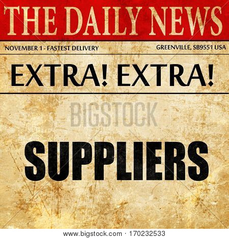 suppliers, newspaper article text