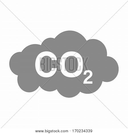Carbon Dioxide pollution sign vector design isolated on white background