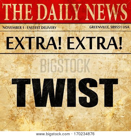 twist dance, newspaper article text
