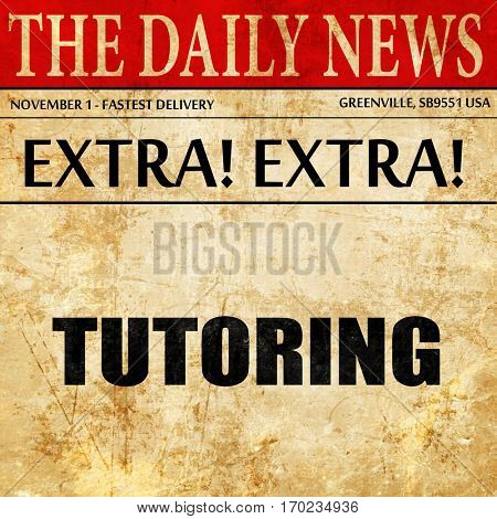 tutoring, newspaper article text