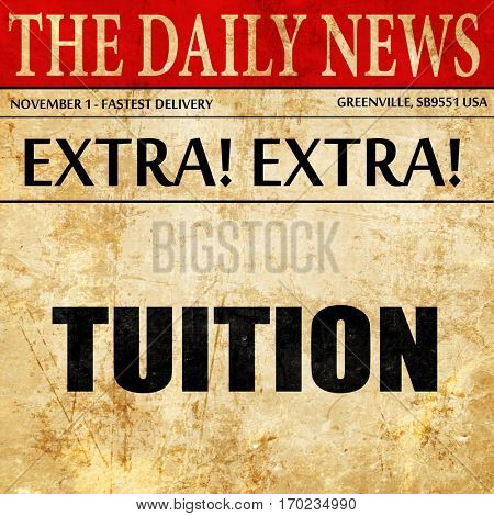 tuition, newspaper article text