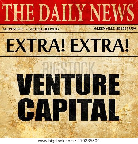 venture capital, newspaper article text
