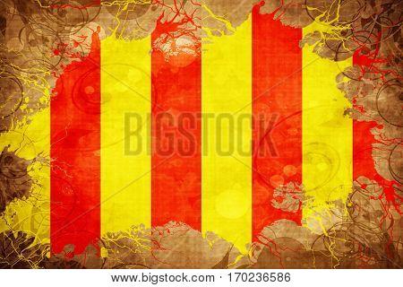 Vintage debris racing flag flag with grunge effect