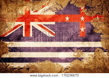 Vintage Murray river flag with grunge effect