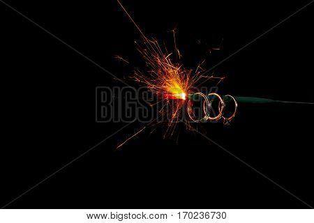 Wedding ring to wear to burning Sparkler.
