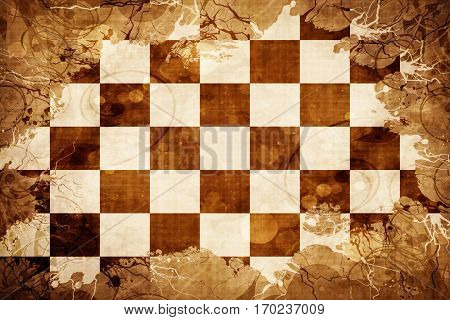 Vintage chequered racing flag flag with grunge effect