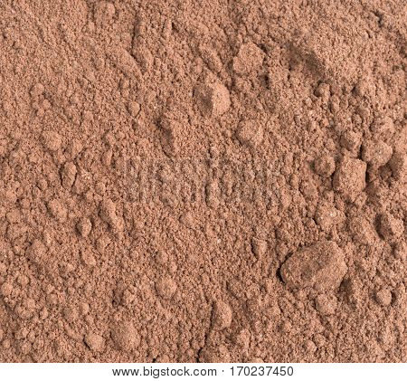 A very close view of cocoa powder.