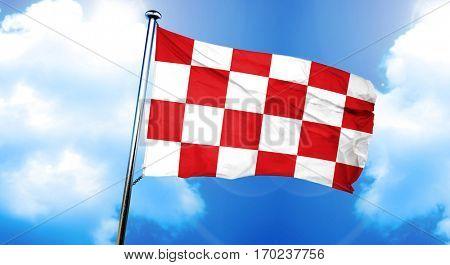 North Brabant, noord brabant flag, 3D rendering
