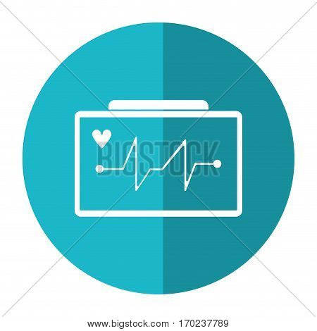 ecg heart machine medical device shadow vector illustration eps 10