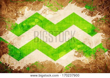 Vintage Westland flag with grunge effect