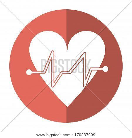 heart beat pulse cardiac medical shadow vector illustration eps 10