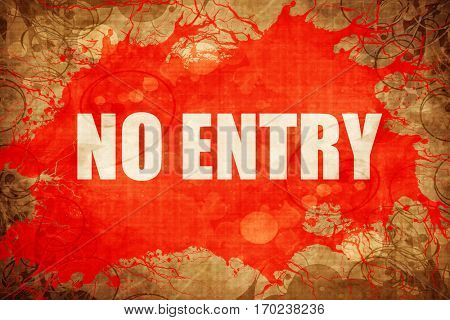 Vintage no entry symbol background