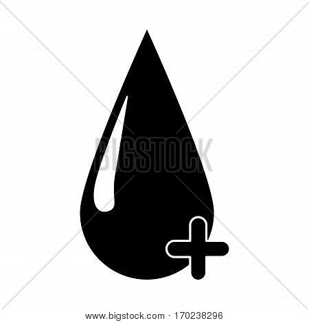 blood drop donate donor pictogram vector illustration eps 10