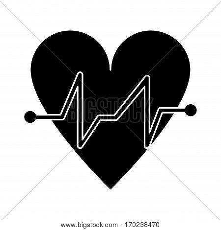 heart beat pulse cardiac medical pictogram vector illustration eps 10