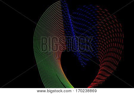 Light Painting. Abstract, Futuristic, Colorful Long Exposure, Black Background-42