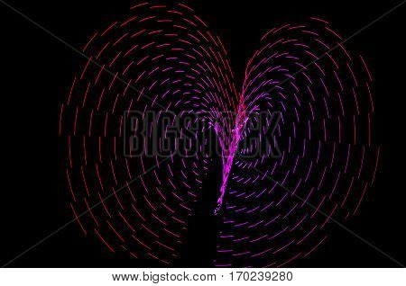 Light Painting. Abstract, Futuristic, Colorful Long Exposure, Black Background-53