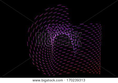 Light Painting. Abstract, Futuristic, Colorful Long Exposure, Black Background-55