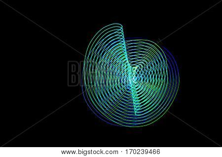 Light Painting. Abstract, Futuristic, Colorful Long Exposure, Black Background-58