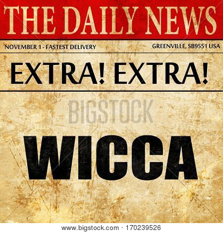 wicca, newspaper article text