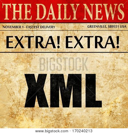 xml, newspaper article text