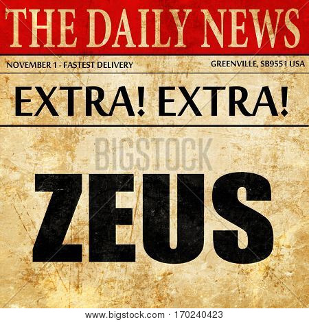 zeus, newspaper article text