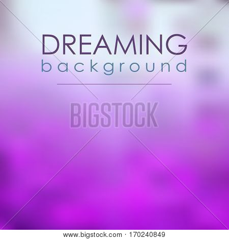 Magical Blur Violet Background Dreaming. Fantasty abstrakt mesh.