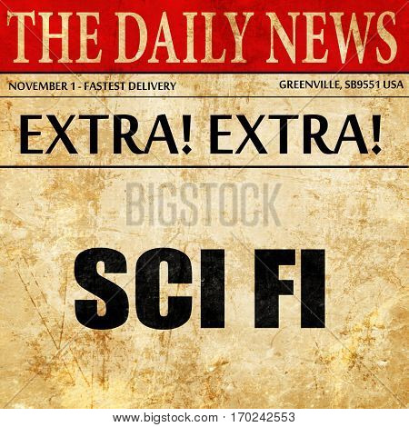 sci fi, newspaper article text