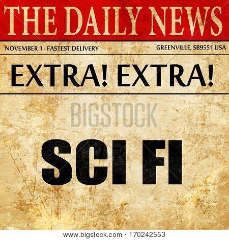 sci fi, newspaper article text