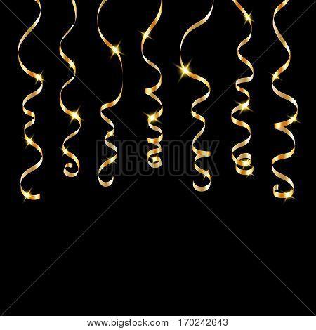 Ribbon Confetti Isolated