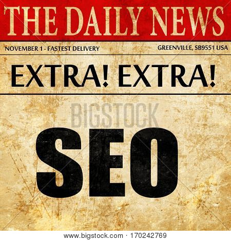 Search engine optimalization, newspaper article text