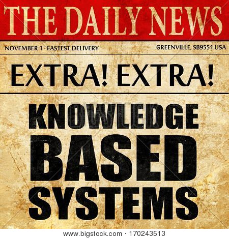 knowledge based systems, newspaper article text