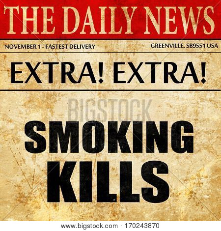 smoking kills, newspaper article text