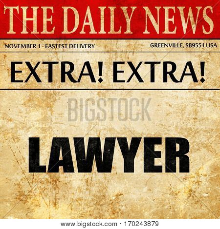 lawyer, newspaper article text