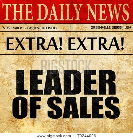 leader of sales, newspaper article text